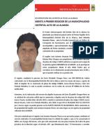 DENUNCIAN PENALMENTE A PRIMER REGIDOR DE LA MUNICIPALIDAD DISTRITAL ALTO DE LA ALIANZA