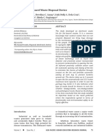 Electronic Bio-hazard Waste Disposal Device