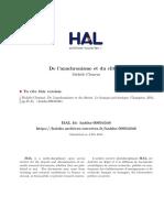 A de La Anachronisme Et Du Clitoris a in Le FrancI Ais PreI Classique