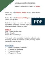 Spm English Essay Format