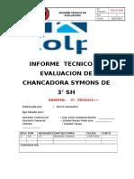 Informe Tecnico de Evaluacion de Chancadora Symons de 3' Sh
