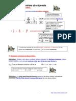 nombres entiers et rationnels  (anc prog - 3ème-)