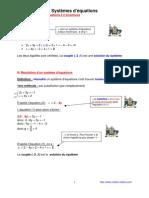 systeme d' equations  (anc prog - 3ème-)