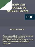 Mezcla Rapida - Sistemas de Aguas y Alcantarillado