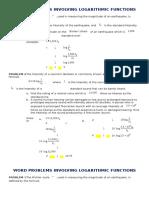 Log Problems Worksheet