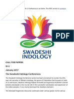 SI-2 Call for Papers – Swadeshi Indology Conferences