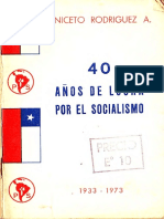40 años de lucha por el Socialismo- Aniceto Rodriguez- 1973