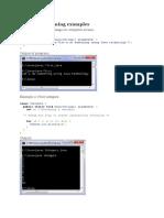 Java Programming Examples