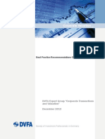 DVFA Best Practice Recommendations Corporate Valuation
