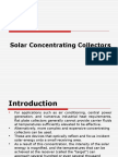 Lecture on Solarconcentratingcollectors