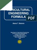 Agricultural Engineering - List of Formulas.pdf