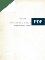 Ensayo de Una Biblioteca Espanola de Libros Raros y Curiosos Tomo 1 0