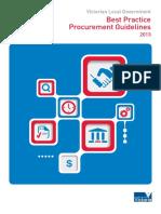 Victorian Local Government Best Practice Procurement Guidelines 2013