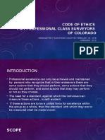 Code of Ethics Class Surveyor