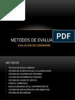 Metodos de Evaluacion