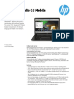 HP ZBook Studio G3 Datasheet
