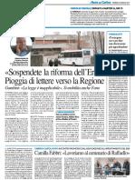 """""""Sospendete la riforma dell'Ersu"""", pioggia di lettere alla Regione - Il Resto del Carlino del 20 gennaio 2017"""
