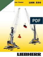 Liebherr LHM 550 Mobile Harbour Crane Data Sheet en 9980-0