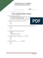 Quiz 1 Autopilot July2015