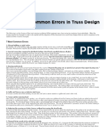 Common Errors in Truss Design