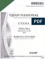 Soal Un Sma Bahasa Inggris Program Studi Ips