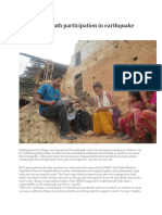 Promoting Youth Participation in Earthquake Responses. in Nepal PDF