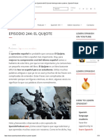 Learn Spanish With El Quixote Listening to Native Speakers _ Spanish Podcast