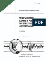 Predictive Dynamic Response of Panel Type Structures Under Earthquakes (Kollegger, J. P.; Bouwkamp, J. G.; 1980)