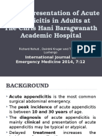 clinical presentation of acute appendicitis in adults at the chris hani baragwanath academic hospital
