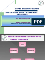 How to Be Certified Ready Mix Concrete Manufacturer(Ready-Mixed Concrete Certification Scheme)