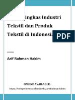 2014 Profil Ringkas Industri Tekstil Dan