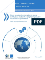 Does Gender Discrimination in Social Institutions Matter for Long-term Growth