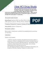 Tetracycline HCl Drug Study