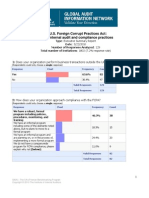 Institute of Internal Auditors - Audit and Internal Controls Survey - March 2010