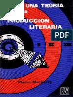 Macherey, Pierre - Para Una Teoria de La Produccion Literaria EXTRACTO