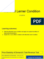 marshall lerner condition - j-curve