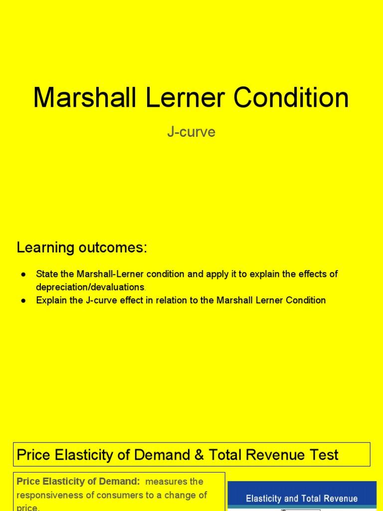 Marshall Lerner Condition