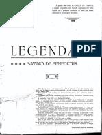Benedictis, Savino De_Legenda