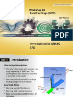 Introduction to ANSYS CFX Workshop 04 Ax
