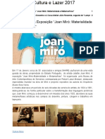 """""""Joan Miró- Materialidade e Metamorfose"""""""