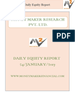 Daily Equity Report 24 January 2017 By Money Maker Research Pvt Ltd