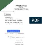 Matemática - Aula 11 - Função Logarítmica