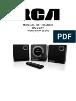 Manual Rca Rs 2207