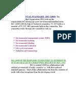 Environmental Standard