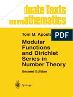 [Apostol 1990] - Modular Functions and Dirichlet Series in Number Theory, 2nd Ed.
