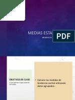 Medias Estadísticas_Tendencia Central