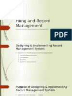 Filing and Record Management