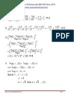 Pembahasan UN Matematika SMA IPA Tahun 2016