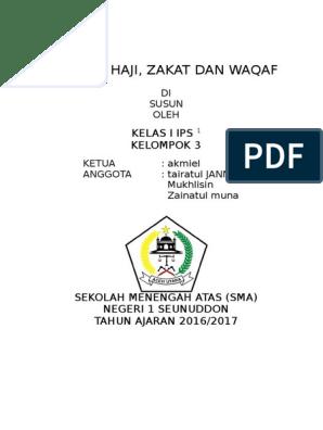Ibadah Haji Zakat Dan Waqaf