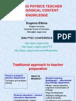 Etkina-TeacherContentKnowledge